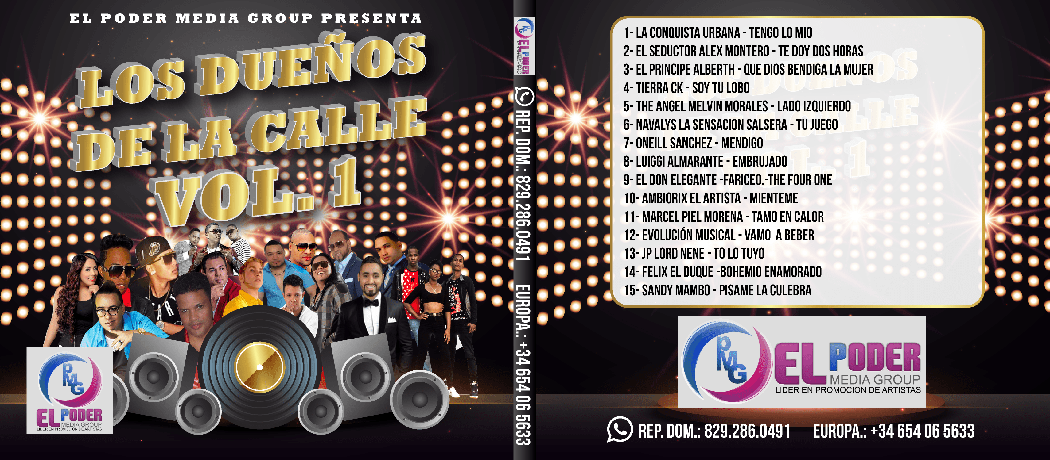 CD: Los Dueños De La Calle Vol. 1 by El Poder Media Group