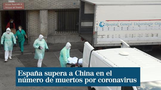 España suma 3.500 muertos por coronavirus, 750 en un día, y supera ya a China