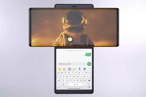 LG Wing, el teléfono con pantalla giratoria, disponible en España por 1.099 euros a partir de noviembre